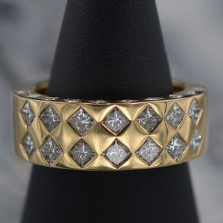 18 quilates Oro amarillo - Anillo - Diamantes