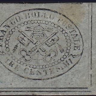 Päpstlicher Staat 1867 - 3 cents grey - Sassone N. 15