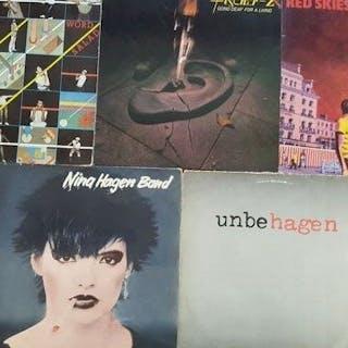 "Fisher Z and Nina Hagen Band - 5 x 12"" album- Diverse Titel - LP's - 1978/1981"