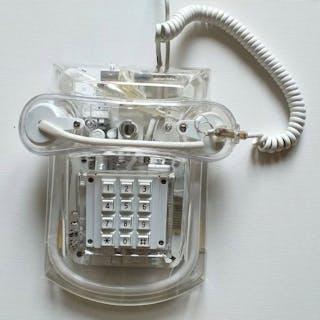 Manuneon - Weißes analoges Neontelefon - Roxanne - 9221 - 8