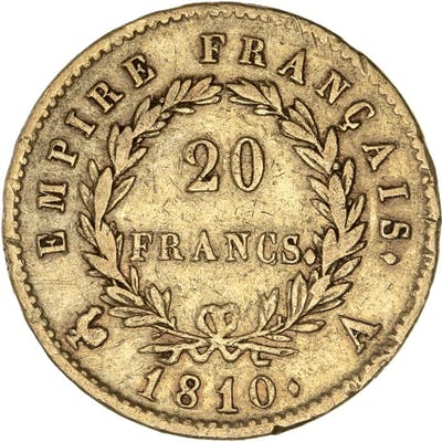 France - 20 Francs 1810-A Napoleon I - Or