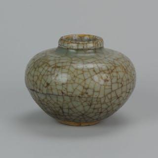 Vaso - Porcellana - Crackles Ge/Guan - Cina - Dinastia Ming (1368-1644)