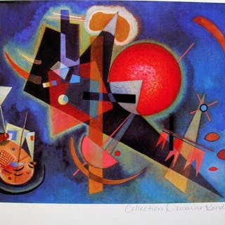 Wassily Kandinsky (after) - In Blue. Certificate