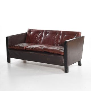 Unknown designer- Art Deco style sofa in leather