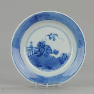 Teller - Blau und weiß - Porzellan - Qilin Dish - China - Kangxi (1662-1722)