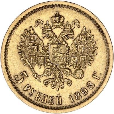 Russie - 5 Roubles 1898 Nikolai II - Or