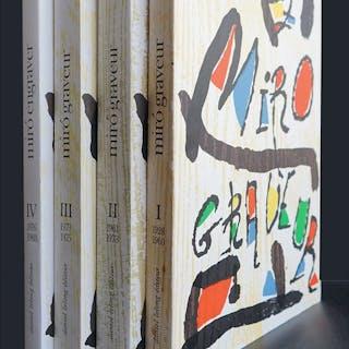 Joan MIRO / Jacques Dupin - Miro graveur I-II-III-IV - 1984/2001