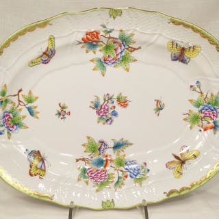 Queen Victoria 1102/VBO - Herend - Large serving plate cm.38 X cm