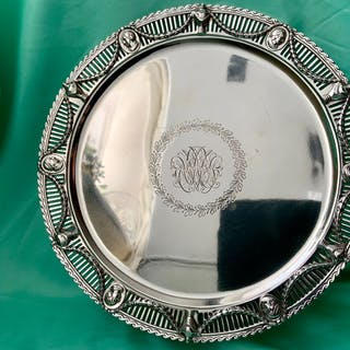 Salver, Neoclassical style sterling silver- .925 silver...