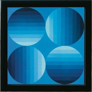 Victor VASARELY - ''Progression 2'' (8 unit)