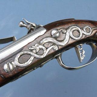 Italy - Brescia - Long pistol - Holster - Flintlock - Horse pistol - 12 mm