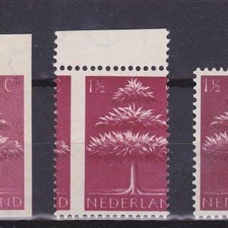 Niederlande 1943/1944 - German symbols printing errors