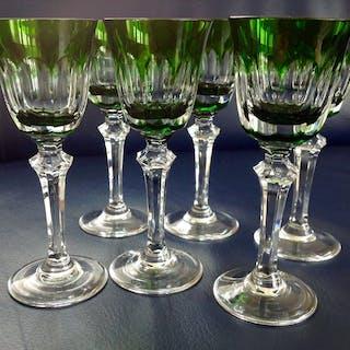 6 cristal tallado a mano copas de vino copas de puerto...
