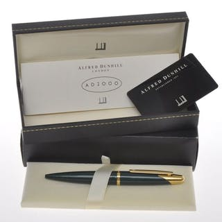 "Dunhill -AD2000 Green ""Stardust"" ballpoint pen new old stock"