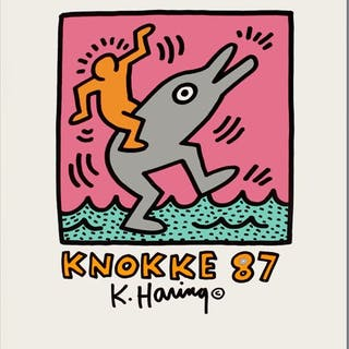 Keith Haring - Exposition Knokke - 1987