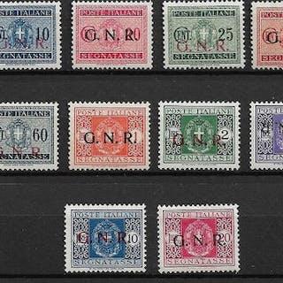 Italien 1944 - Italian Social Republic postage-due stamps