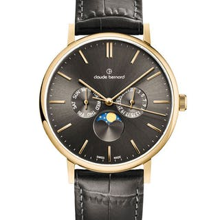 Claude Bernard - Slim Line Day/Date Moonphase - 40004 37J...