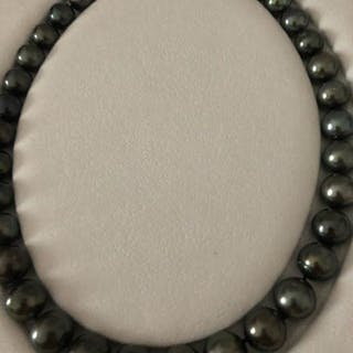 Tahitian pearl, 12.2-14.6 mm - Necklace