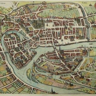 Belgio, Liège, Luik, Lüttich; M. Merian - Leodium, Liege - 1621-1650