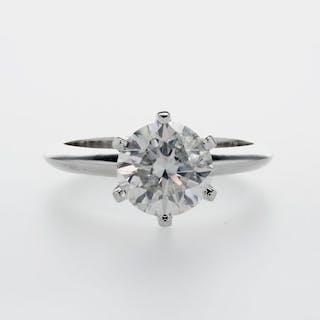 14 kt. White gold - Ring - 2.12 ct Diamond