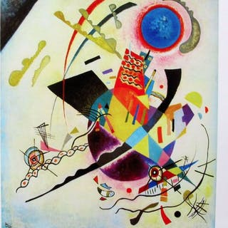 Wassily Kandinsky -Blue Cicle . Certificate