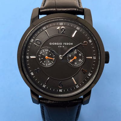 Giorgio Fedon 1919 - Vintage II Day and Date Black PVD...