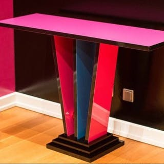 Art Deco Style Design Console Table - Colorful - Art Deco