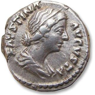 Roman Empire - AR denarius Faustina II Junior