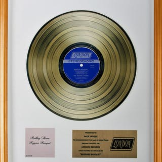 Rolling Stones - Beggars Banquet - Gold Record Award...