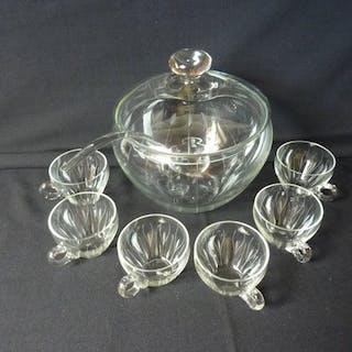 Schüssel mit Gläsern und Löffel gesetzt (8) - Glas - Kristall