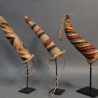 Penisköcher (3) - Köcher, Rattan - Dani - Papua Neuguinea