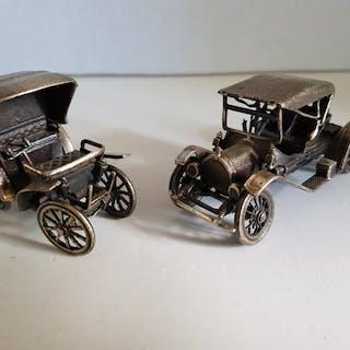 Miniature (2) - .800 silver - Italy - Second half 20th century