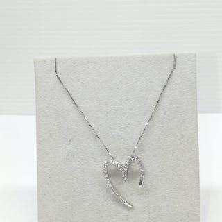 18 quilates Oro blanco - Collar - 0.15 ct Diamante