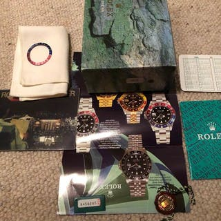 Rolex - Rolex GMT master box set and vintage faded bezel...