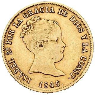 Spain - 80 reales - Isabel II (1833-1869)