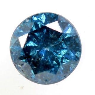 Diamond - 0.42 ct - Brilliant - ( Treated Color ) - * NO RESERVE PRICE *