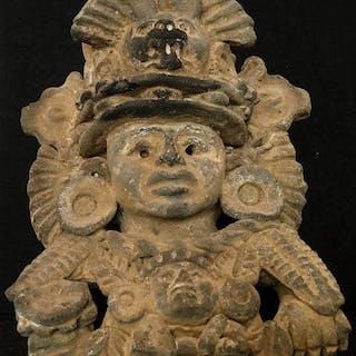 Pottery - Figural urn - Zapotec - Mexico