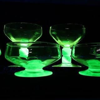 Doyen - Eis Coupes mit einer grünen Basis (7) - Glas