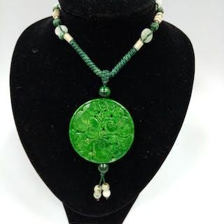 Necklace (1) - Jadeite - Myanmar - 21st century