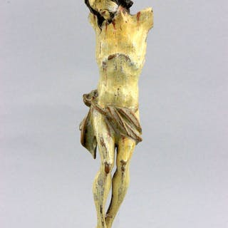 Antique hand carved crucifix with corpus - Wood - First half 18th century
