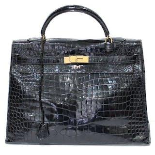 Hermès - Kelly 35 Crocodile Porosus Handtasche