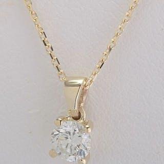 14 kt. Yellow gold - Pendant - 0.30 ct Diamond
