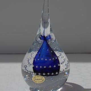 Adam Jablonski - Crystal Art Cobalt Bubble Teardrop Briefbeschwerer - Glas