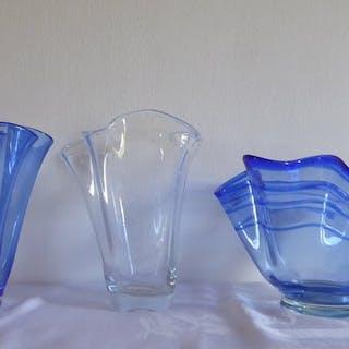 Fazzoletto Vase - Schüssel (3) - Glas