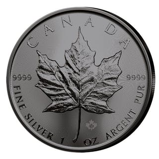 Kanada - 5 Dollar 2019 - Maple Leaf - veredelt mit Ruthenium F- 1 oz - Silber