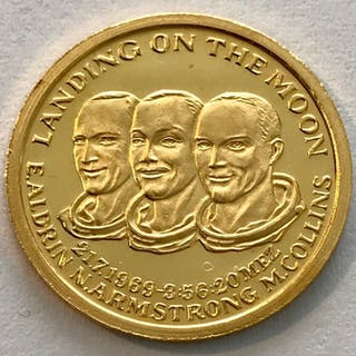France - 1969 - Landing on the Moon- 1/10 oz- Gold