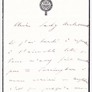 Koning Leopold II van België - Autograph; Letter to...