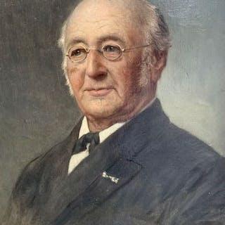 Bernard de Hoog(1867-1943) - Portret van Heer met knoopsgat versiering
