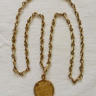 Mixed Gold - Necklace with pendant