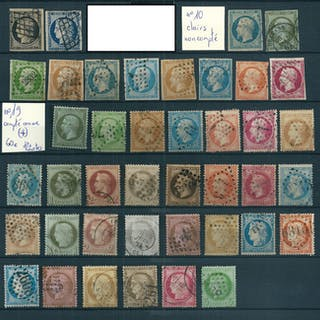 Francia 1860/1873 - Lot of 23 Napoleon type Classics, Bordeaux